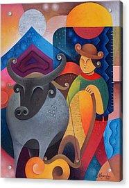 Farmer Acrylic Print by Hermel Alejandre