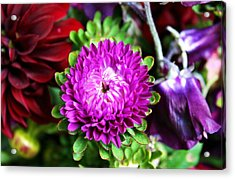 Farmers Market Bouquet Acrylic Print by Cathie Tyler
