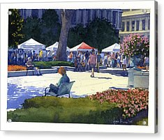 Farmers Market, Madison Acrylic Print