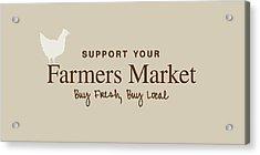 Farmers Market Acrylic Print by Nancy Ingersoll