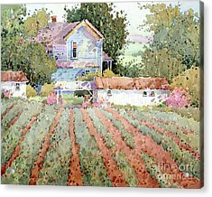 Farmhouse I Saw In Virginia Acrylic Print by Joyce Hicks