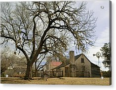 Farmhouse On A Landscape, Living Acrylic Print by Panoramic Images