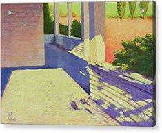 Farmhouse Porch Acrylic Print by Mary McInnis