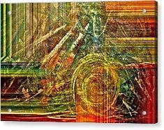 Farming Acrylic Print by Gwyn Newcombe