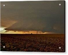 Acrylic Print featuring the photograph Farmland Supercell by Ed Sweeney