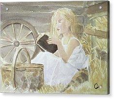 Farm's Reader Acrylic Print