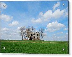 Farmstead Acrylic Print by Harold Clayberg