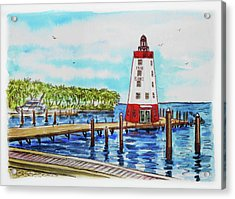 Faro Blanco Lighthouse Florida Keys Acrylic Print