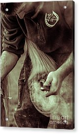 Farrier Hot Shoe Acrylic Print