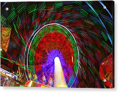 Farris Wheel Crazy Light Abstract Acrylic Print by James BO  Insogna