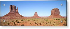 Fascinating Monument Valley Panoramic View Acrylic Print by Melanie Viola
