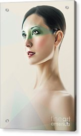 Acrylic Print featuring the photograph Fashion Beauty Portrait by Dimitar Hristov