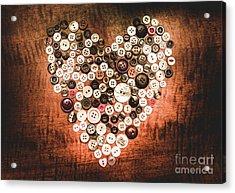 Fashion Button Love Acrylic Print