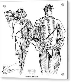 Fashion Couple Acrylic Print