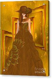 Fashion Design Art - Autumn Ball Gown By Rgiada Acrylic Print by Giada Rossi