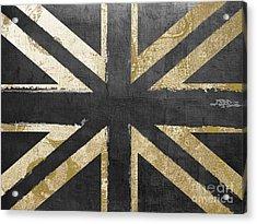 Fashion Flag United Kingdom Acrylic Print by Mindy Sommers