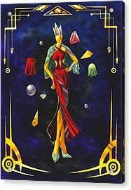 Fashion Goddess Illustration No.1 Acrylic Print by Kenal Louis