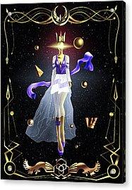 Fashion Goddess No. 2 Acrylic Print by Kenal Louis