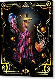 Fashion Goddess No. 3 Acrylic Print by Kenal Louis
