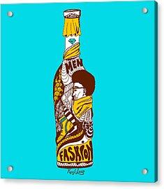 Fashion In A Gold Bottle Acrylic Print by Kenal Louis