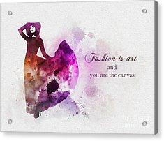 Fashion Is Art Acrylic Print by Rebecca Jenkins