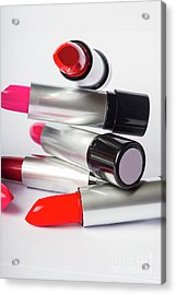 Fashion Model Lipstick Acrylic Print