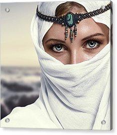 Fashion Woman Acrylic Print by IPolyPhoto Art
