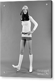 Fashionable Young Woman, C. 1970s Acrylic Print by H. Armstrong Roberts/ClassicStock