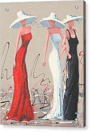 Fashionistas Acrylic Print by Thalia Kahl