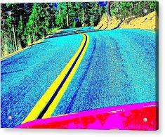 Fast Ferrari Above Tahoe Acrylic Print by Don Struke