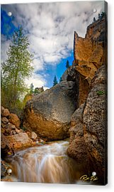 Fast-flowing Crazy Woman Acrylic Print