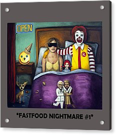 Fast Food Nightmare With Lettering Acrylic Print