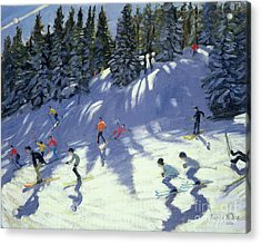 Fast Run Acrylic Print by Andrew Macara