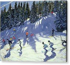Fast Run Acrylic Print by Andrew Macara
