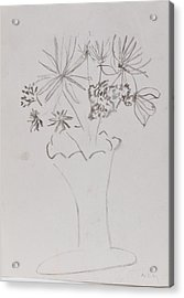 Fast Vase With Flowers Acrylic Print by MaryBeth Minton