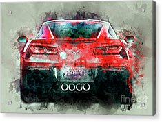 Fast Vette Acrylic Print by Jon Neidert