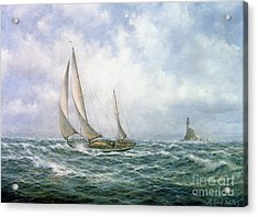 Fastnet Abeam Acrylic Print by Richard Willis