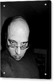 Fat Bald And Unhappy Acrylic Print by John Toxey