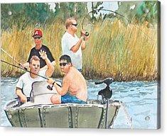 Fat Guys Love To Fish Acrylic Print