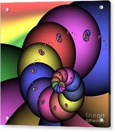 Fat Worm Family 172 Acrylic Print by Rolf Bertram