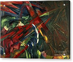 Fate Of The Animals Acrylic Print by Franz Marc