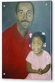 Father And Daughter Acrylic Print by Angelo Thomas