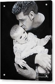 Father And  Daughter Acrylic Print by Raymond Potts