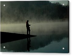 Father And Son Fishing Acrylic Print by Shawn Wood