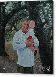 Father And Son Acrylic Print by Michael Nowak
