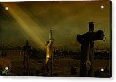 Father, Into Your Hands I Commend My Spirit Acrylic Print