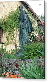 Father Junipero Serra Statue At Mission Carmel Acrylic Print