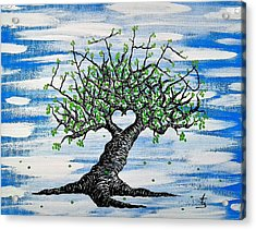Acrylic Print featuring the drawing Father Love Tree by Aaron Bombalicki