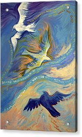 Father Son And Holy Spirit Acrylic Print by Jill Iversen