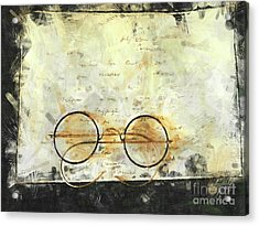 Acrylic Print featuring the photograph Father's Glasses by Claire Bull